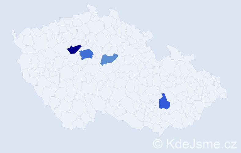 Příjmení: 'Lämlein', počet výskytů 17 v celé ČR