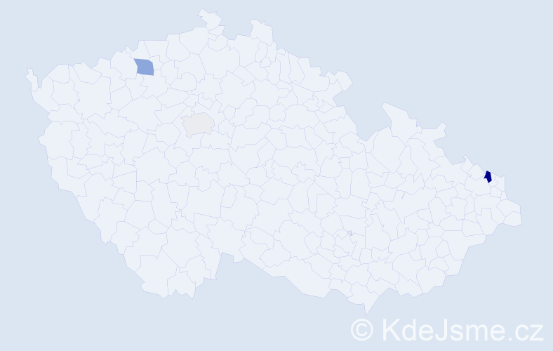 Příjmení: 'Chruščová', počet výskytů 7 v celé ČR