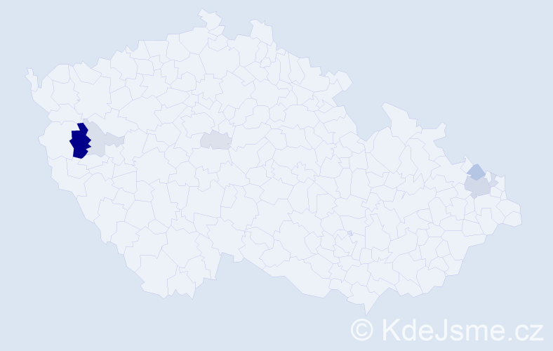 Příjmení: 'Ganobják', počet výskytů 17 v celé ČR