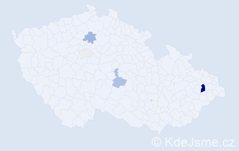 Příjmení: 'Lénert', počet výskytů 9 v celé ČR