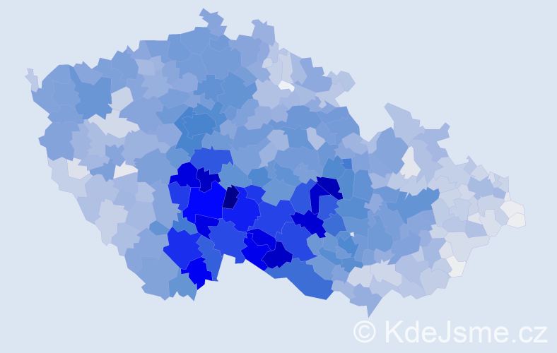 Příjmení: 'Dvořák', počet výskytů 22297 v celé ČR