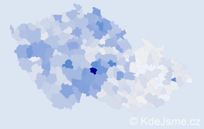 Příjmení: 'Havel', počet výskytů 3944 v celé ČR