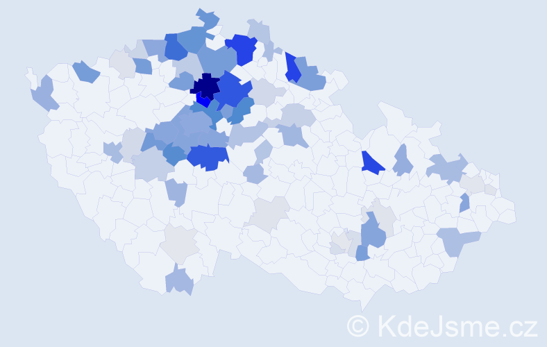 Příjmení: 'Čvančarová', počet výskytů 293 v celé ČR