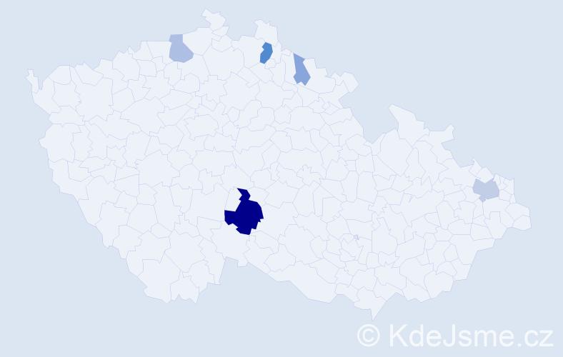 Příjmení: 'Fajstaver', počet výskytů 17 v celé ČR