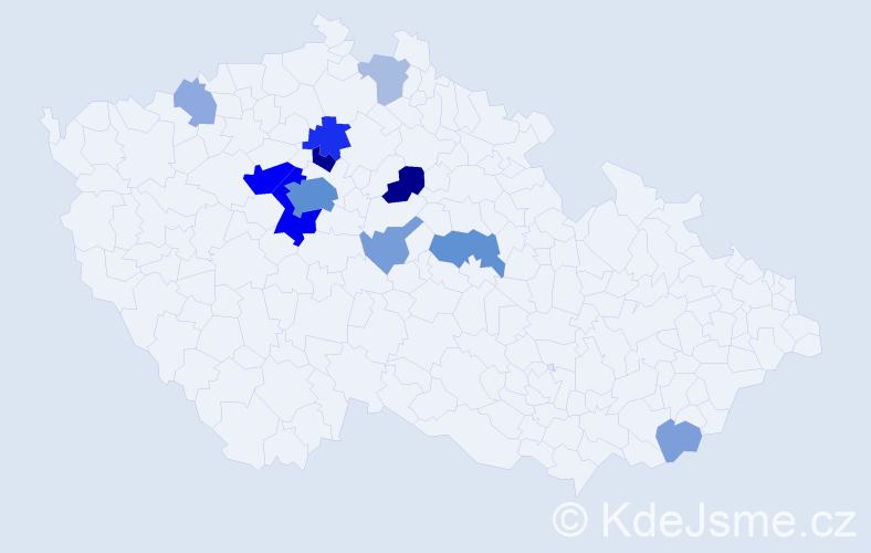 Příjmení: 'Čadský', počet výskytů 41 v celé ČR