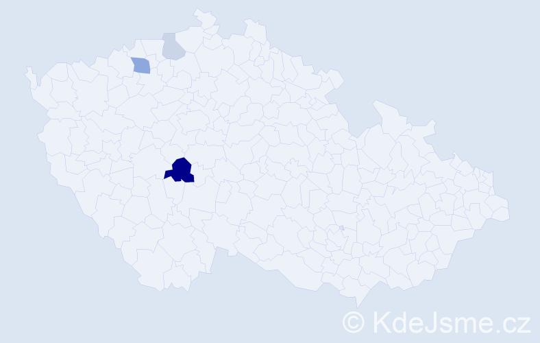 Příjmení: 'Dejmalíková', počet výskytů 6 v celé ČR