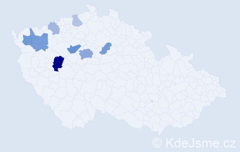 Příjmení: 'Hantonová', počet výskytů 26 v celé ČR