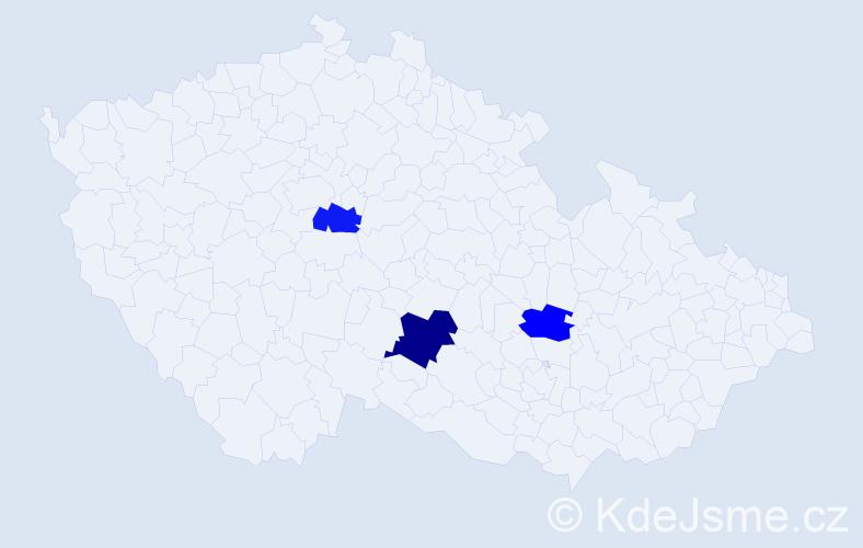 Příjmení: 'Gillet', počet výskytů 4 v celé ČR