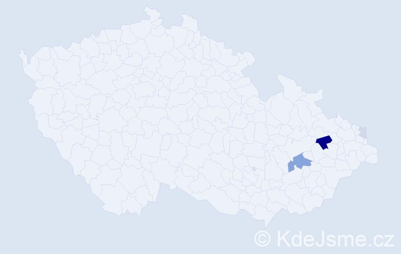 Příjmení: 'Kűschnerová', počet výskytů 9 v celé ČR