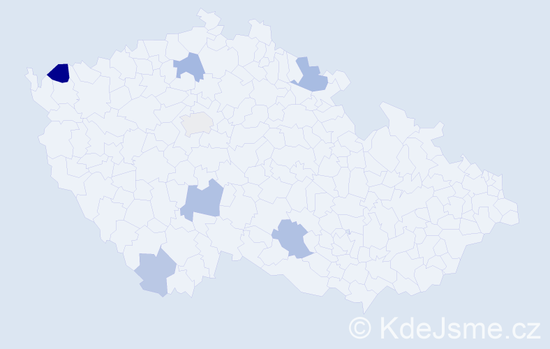 Příjmení: 'Ďurec', počet výskytů 14 v celé ČR