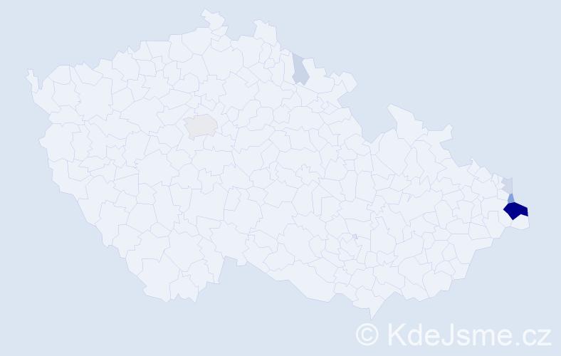 Příjmení: 'Karzel', počet výskytů 37 v celé ČR