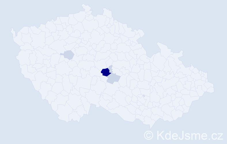 Příjmení: 'Egartová', počet výskytů 7 v celé ČR