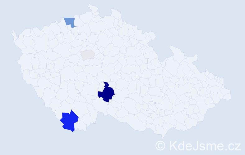 Příjmení: 'Joachimsthal', počet výskytů 8 v celé ČR