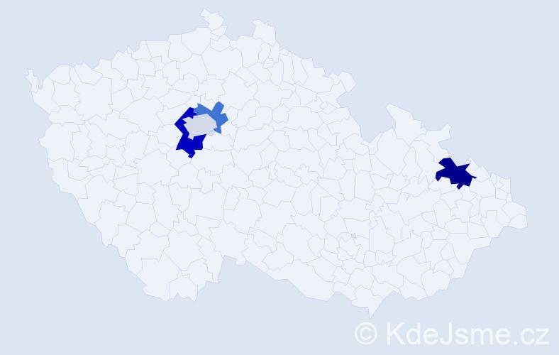 Příjmení: 'Fedčuk', počet výskytů 6 v celé ČR