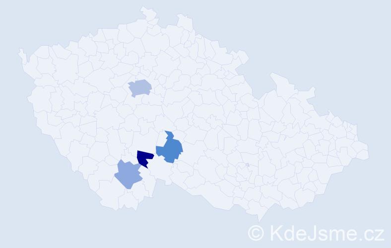 Příjmení: 'Čenkovic', počet výskytů 7 v celé ČR