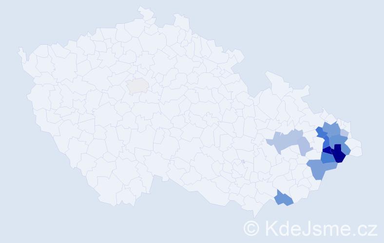Příjmení: 'Knebel', počet výskytů 56 v celé ČR