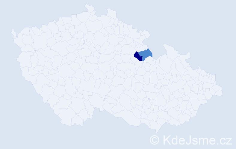 Příjmení: 'Lakmayer', počet výskytů 5 v celé ČR
