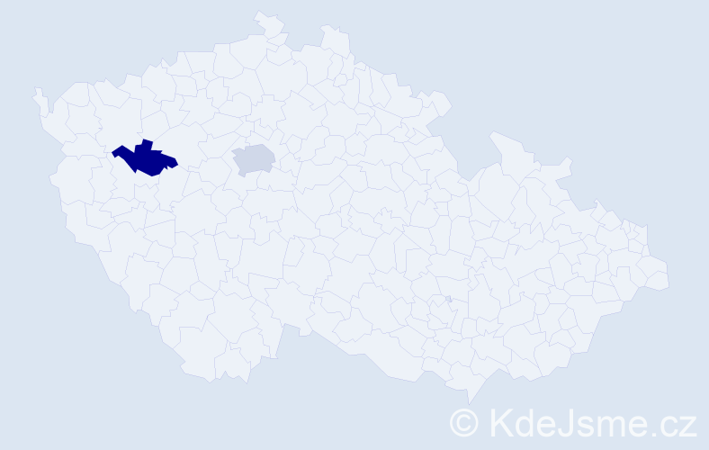 Příjmení: 'Eagle', počet výskytů 3 v celé ČR