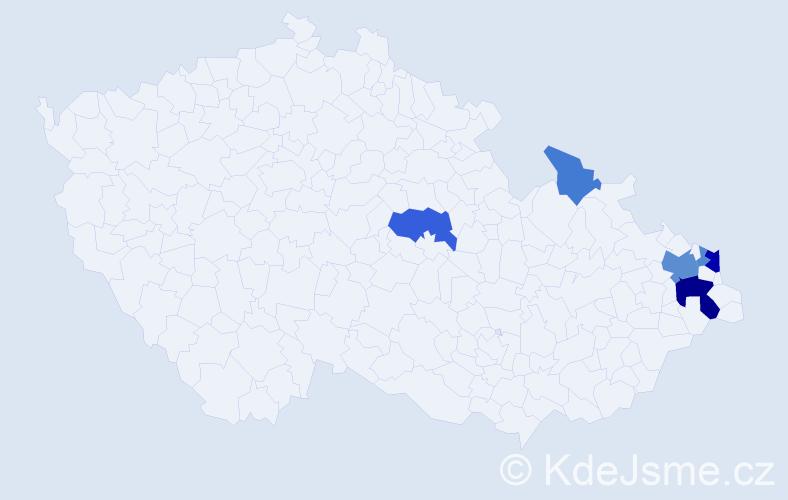 Příjmení: 'Groborz', počet výskytů 15 v celé ČR