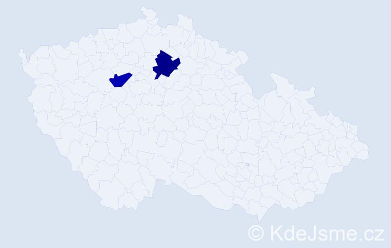 Příjmení: 'Bagdáň', počet výskytů 2 v celé ČR