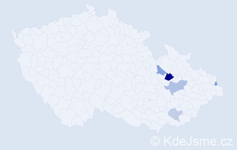 Příjmení: 'Adamica', počet výskytů 8 v celé ČR