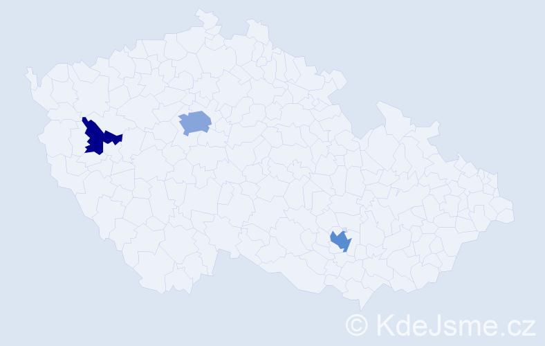 Příjmení: 'Curry', počet výskytů 6 v celé ČR