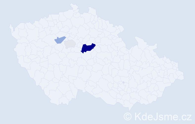 Příjmení: 'Ehrmanová', počet výskytů 6 v celé ČR