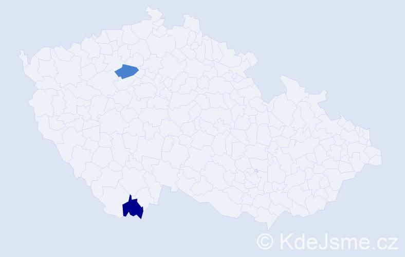 Příjmení: 'Antropov', počet výskytů 2 v celé ČR