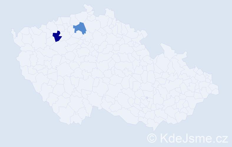 Příjmení: 'Babovičová', počet výskytů 2 v celé ČR