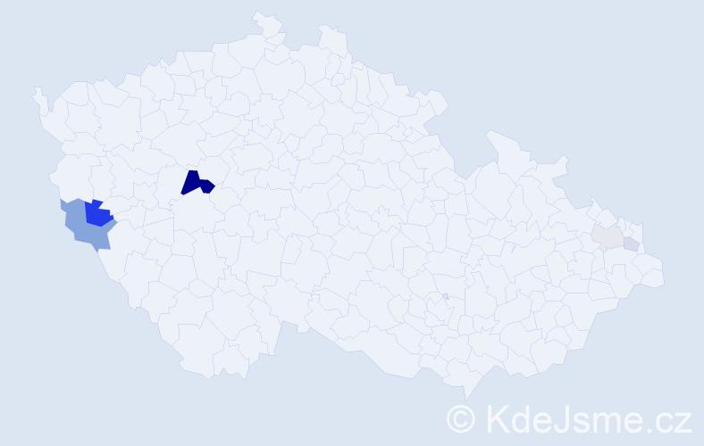 Příjmení: 'Achberger', počet výskytů 12 v celé ČR