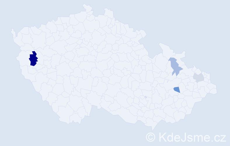 Příjmení: 'Blasbalg', počet výskytů 7 v celé ČR