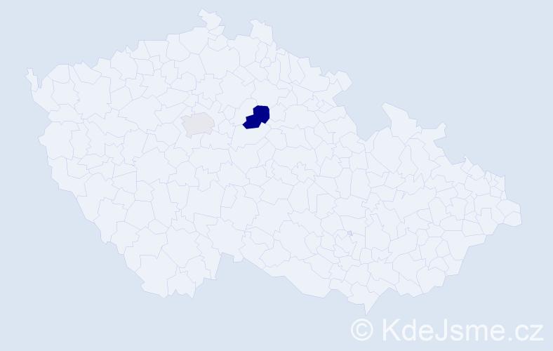 Příjmení: 'Majtásová', počet výskytů 3 v celé ČR