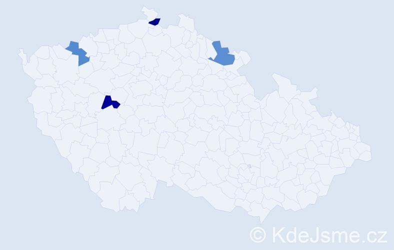 Příjmení: 'Eibin', počet výskytů 14 v celé ČR