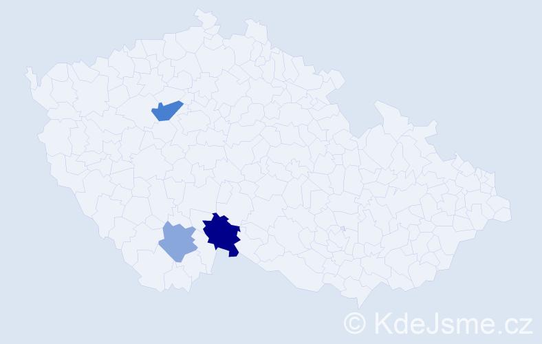 Příjmení: 'Ikavec', počet výskytů 5 v celé ČR