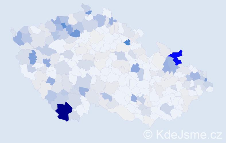 Příjmení: 'Kotlárová', počet výskytů 1123 v celé ČR