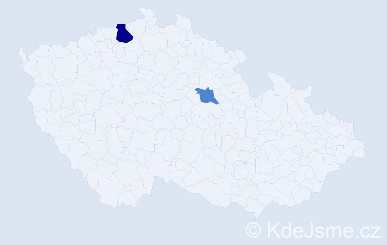 Příjmení: 'Gromdzárová', počet výskytů 3 v celé ČR