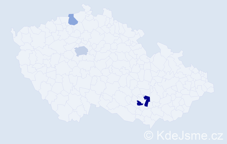 Příjmení: 'Alves', počet výskytů 7 v celé ČR