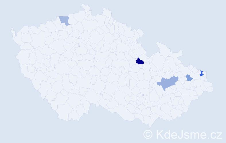 Příjmení: 'Čopian', počet výskytů 14 v celé ČR