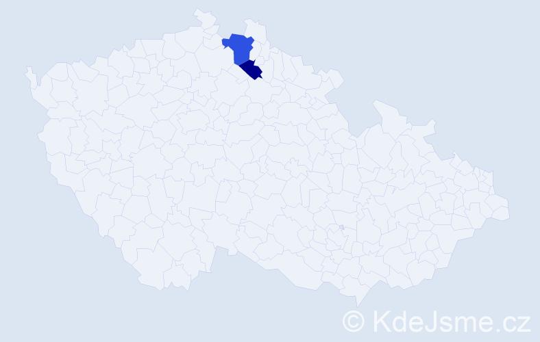Příjmení: 'Herderová', počet výskytů 3 v celé ČR