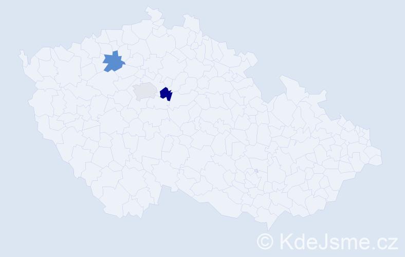 Příjmení: 'Babaianová', počet výskytů 3 v celé ČR