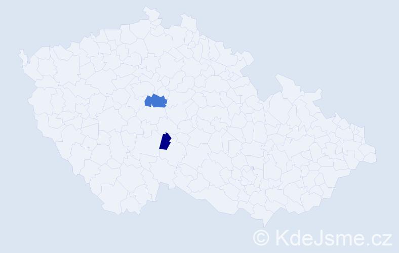 Příjmení: 'Eierová', počet výskytů 4 v celé ČR