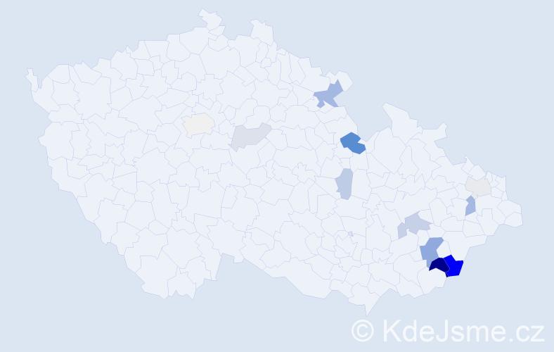 Příjmení: 'Goňová', počet výskytů 32 v celé ČR