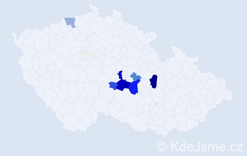 Příjmení: 'Grodlová', počet výskytů 29 v celé ČR