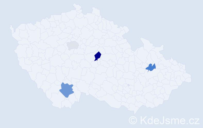 Příjmení: 'Irwin', počet výskytů 8 v celé ČR