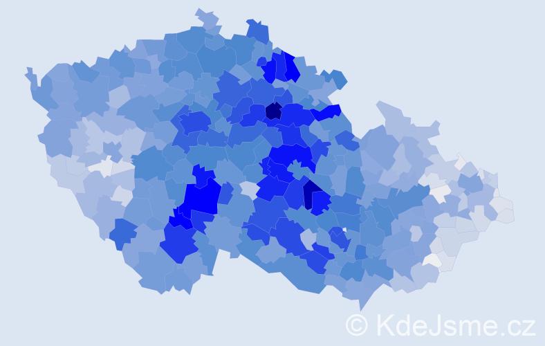 Příjmení: 'Novotný', počet výskytů 24269 v celé ČR