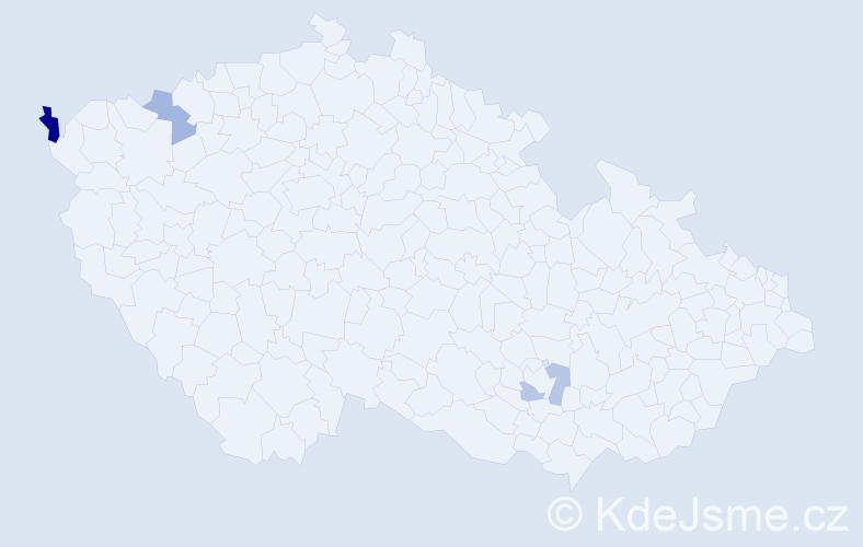 Příjmení: 'Čičmanský', počet výskytů 9 v celé ČR
