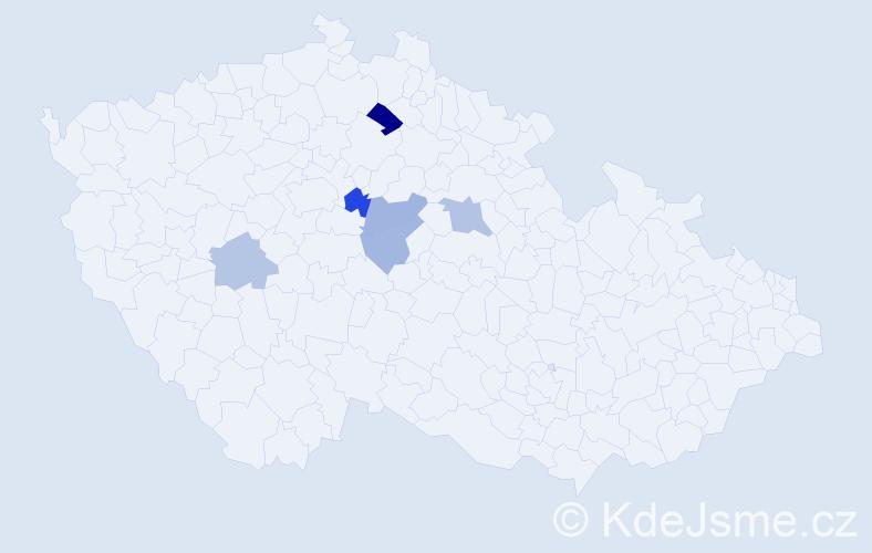 Příjmení: 'Karcol', počet výskytů 17 v celé ČR