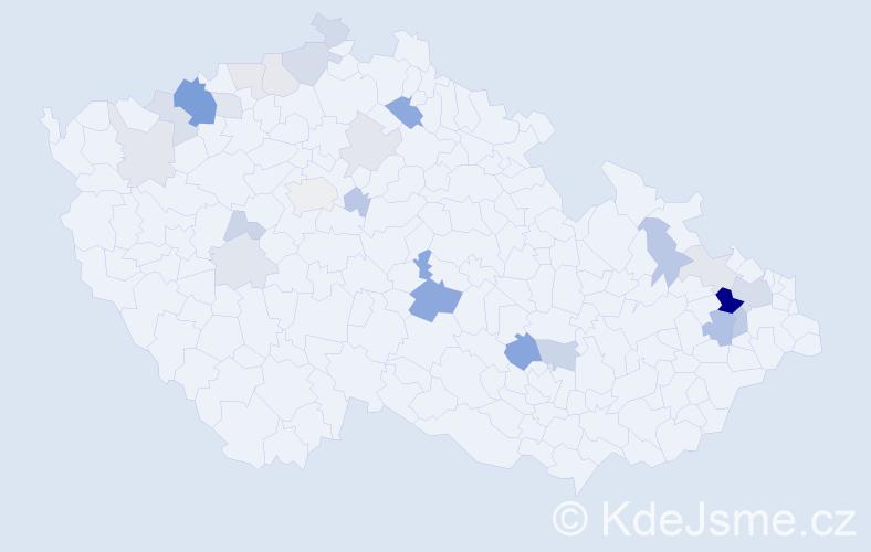 Příjmení: 'Demová', počet výskytů 62 v celé ČR