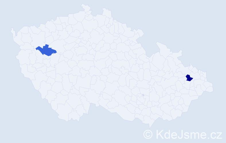 Příjmení: 'Gergőová', počet výskytů 3 v celé ČR