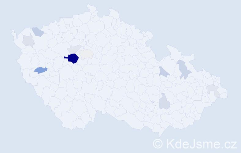 Příjmení: 'Leipertová', počet výskytů 30 v celé ČR